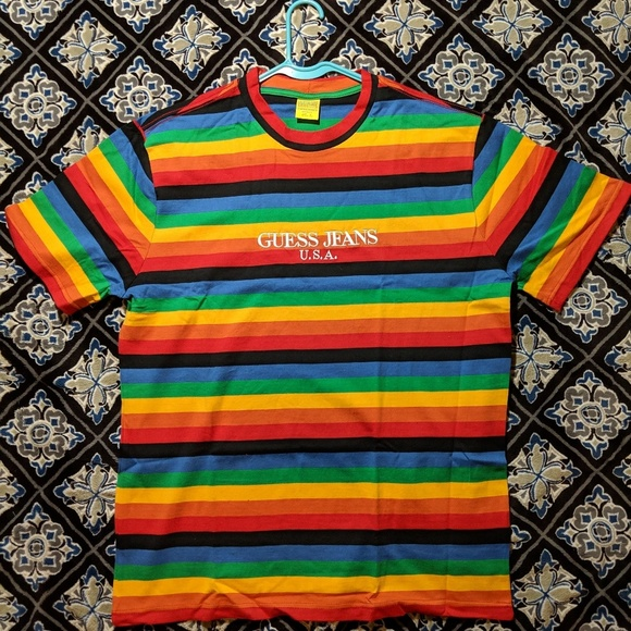 96ddd7db464 Guess Other - Guess Farmers Market Rainbow Tee Sean Wotherspoon